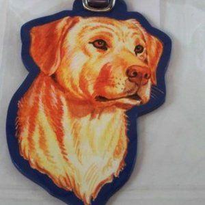 Yellow Labrador Dog Baggage Luggage Tag New